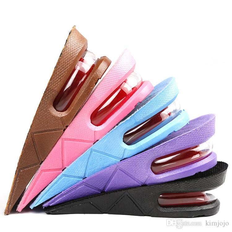 Height Increase 3 cm Insole Ergonomic Design Air Cushion Invisible Lift Pads PVC Men and Women Half Insoles Pad