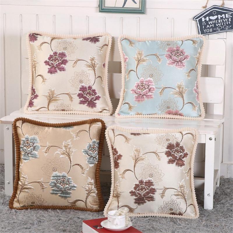 Bz168 Luxury Cushion Cover Pillow Case Home Textiles Supplies Lumbar Pillow  European Crimping Deco Throw Pillows Chair Seat 24 Inch Outdoor Cushions  Outdoor ...