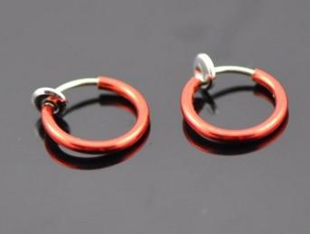 Colorful Fake Nose Ring Lip Ear Nose Clip On Piercing Nose Lip Hoop Rings Earrings pierced ear clip body jewelry QQ