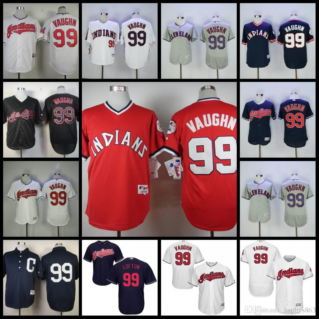 ... Hot Sale Cheap Mens Cleveland Indians 99 Ricky Vaughn Baseball Jerseys  Majestic White Navy Grey Red White Ricky Vaughn Authentic ... daade10f1
