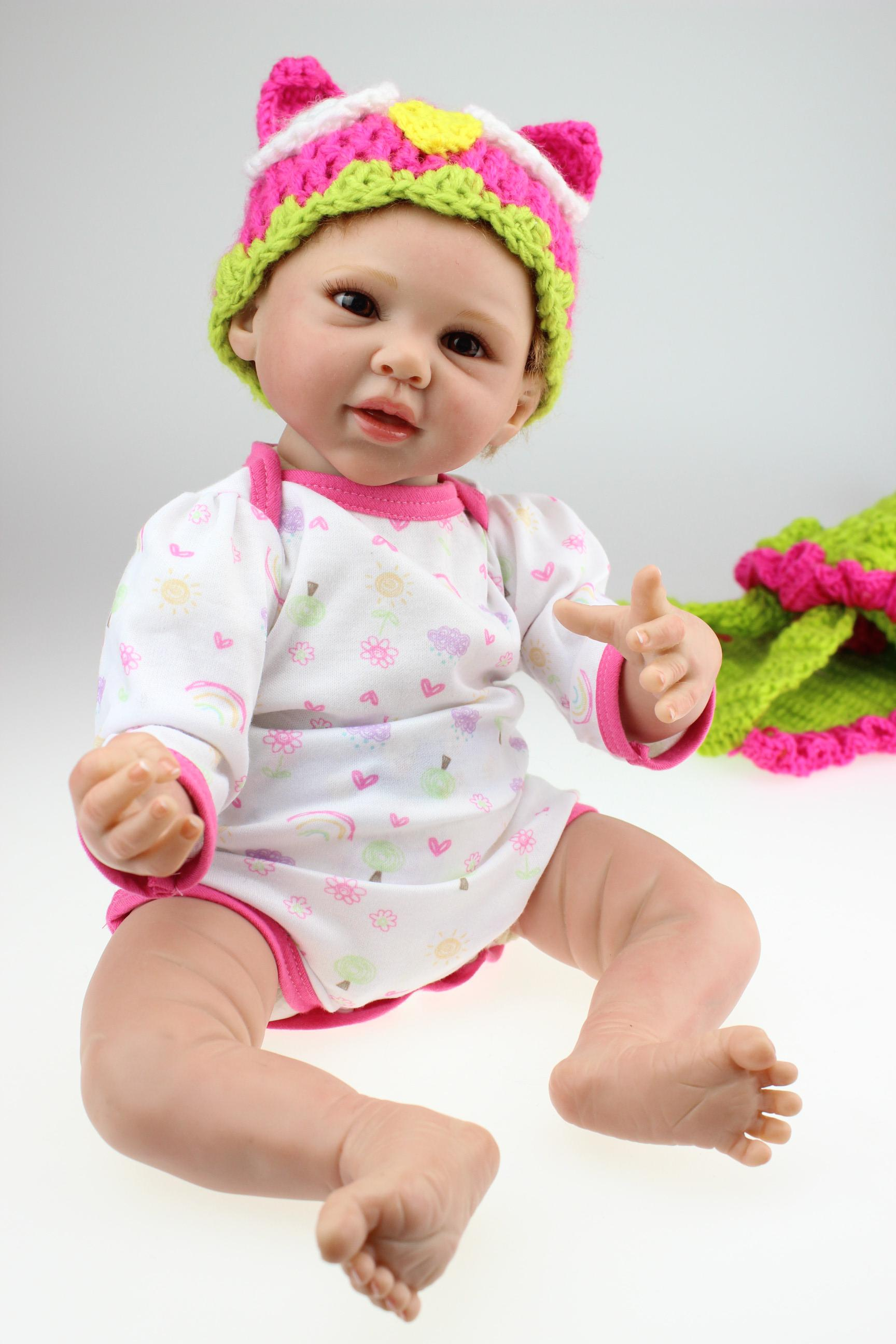 20 Inch Lovely Reborn Baby Doll Soft Silicone Vinyl Baby Doll In