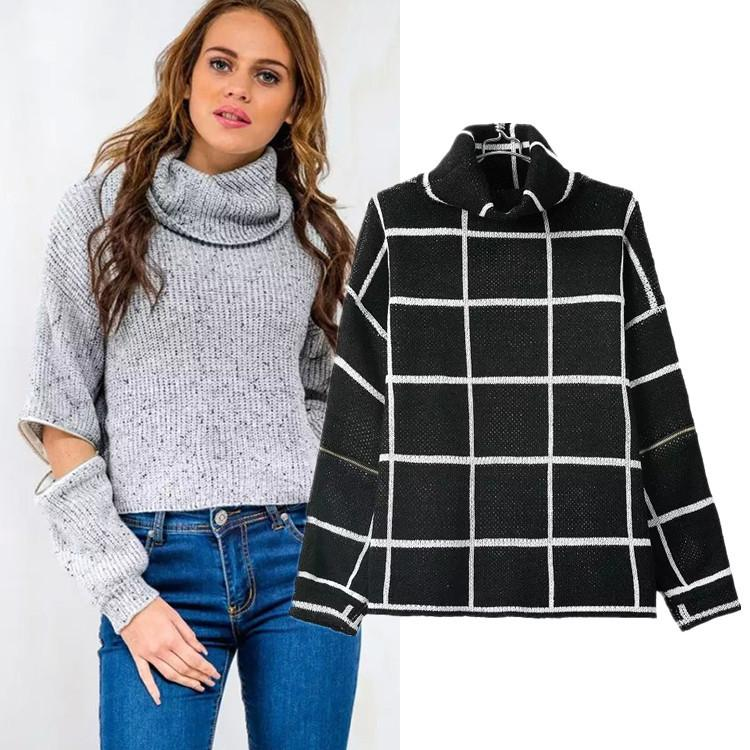 Fashion Loose Turtleneck Sweater New Autumn And Winter Sleeve ...