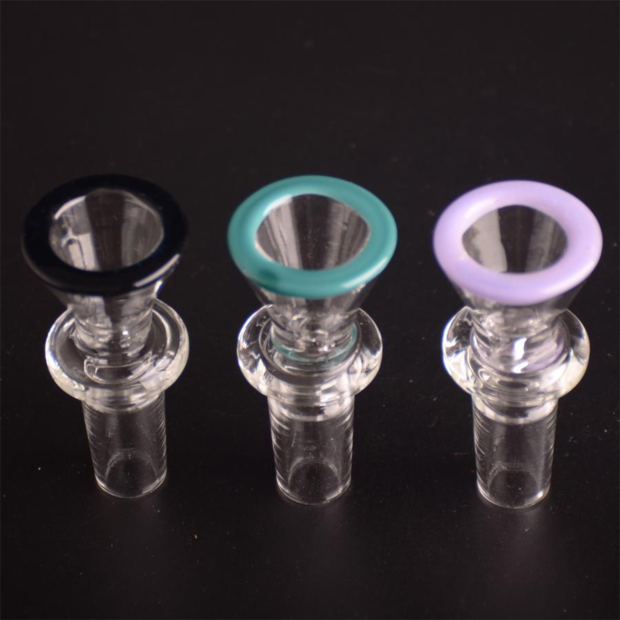 Feuer-Polierglas-Schüsseloberteilschüssel mit trockenem Kraut der Farbe 14.5mm männlichen Gelenks für Glasbongs T18