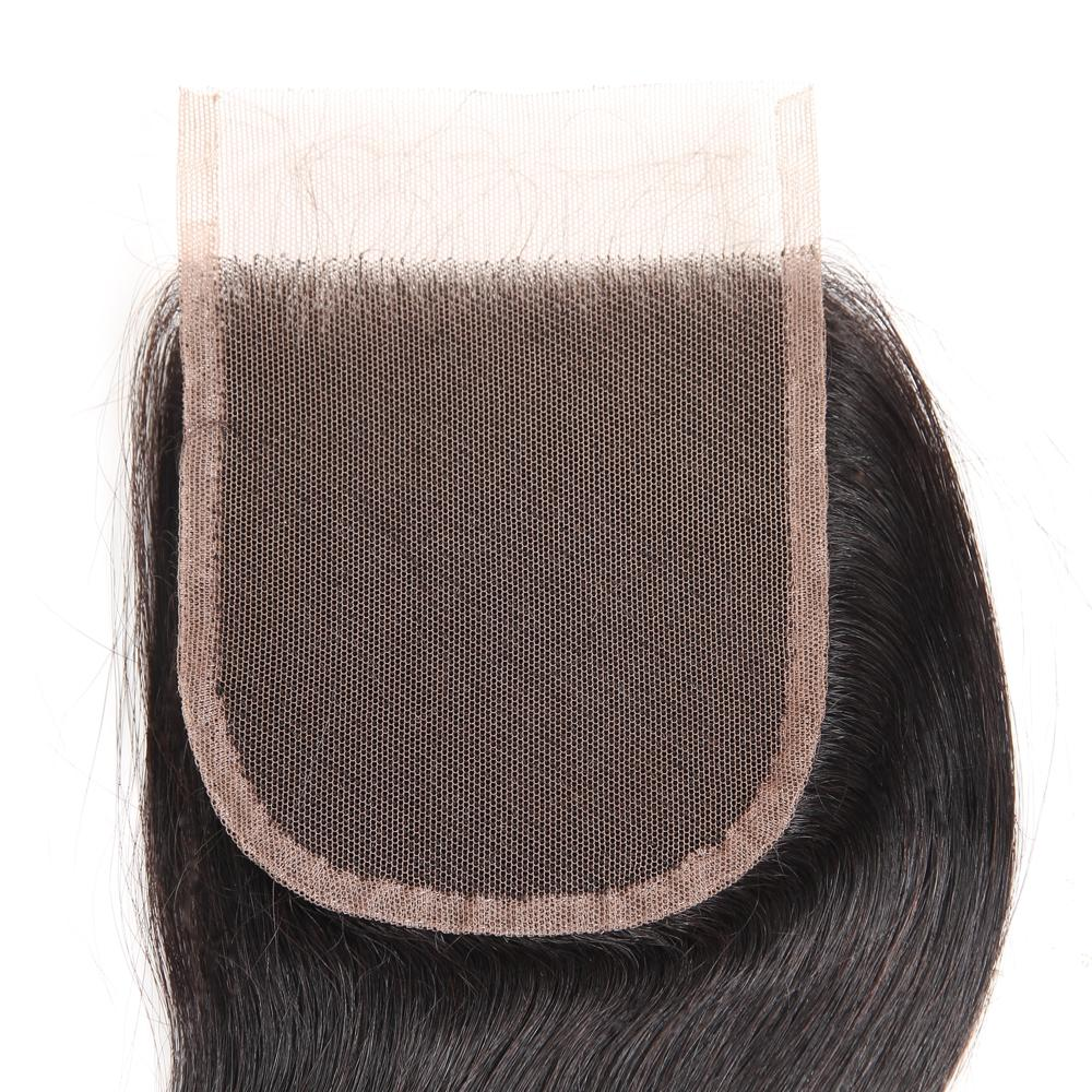 8A Mink Brazilian Silk Straight Virgin Hair 4 Bundles Unprocessed Human hair Lace Closure Cheap Peruvian Malaysian Human Hair Extensions