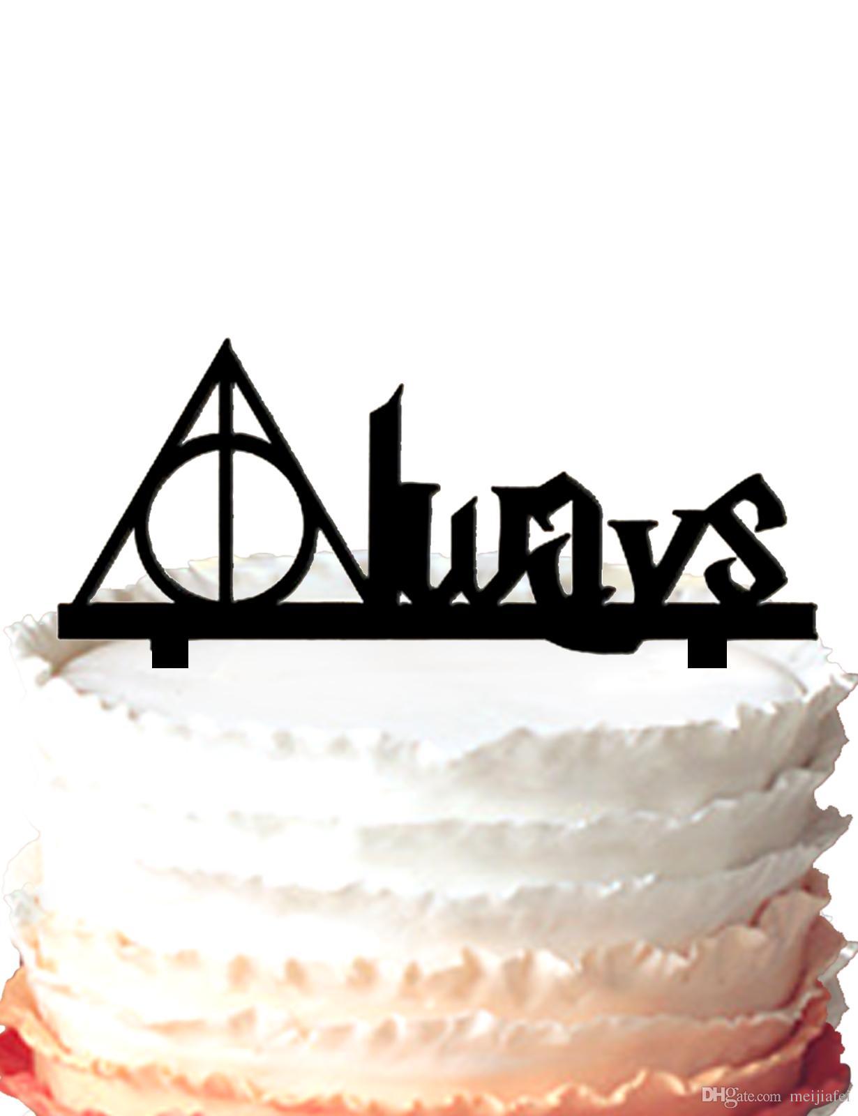 2019 Wedding Cake Topper Silhouette Always Wedding Cake Topper Harry