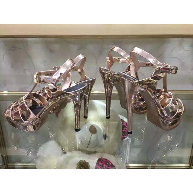 2016 Brand New Caramella Sandali Gladiatore Donne Scarpe di Cuoio Genuini Piattaforma Pompe Tacchi Alti Scarpe Donna Sandalias Mujer 35-41