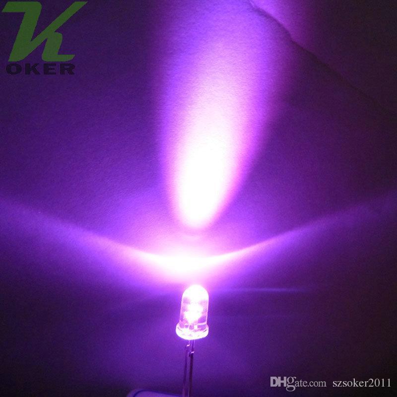5mm rosa rotondo acqua pulita LED Lampada Light Light Emitting diodo Ultra Bright Branzy Plug-in Kit fai da te Pratica grandangolare