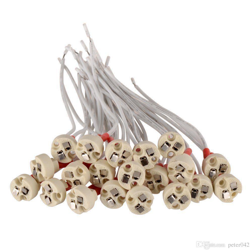 MR16 MR11 Socket lampada LED della lampadina base del supporto del cavo di ceramica principale connettore Wire