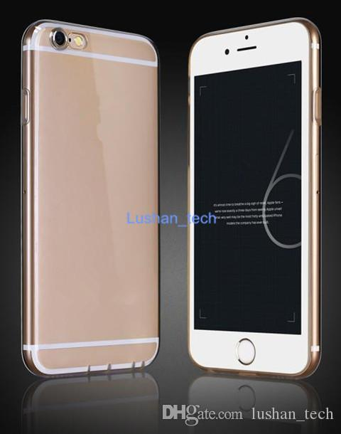 Pour Apple iPhone5 5C 5S 6 6 Plus 6S 6 SPlus TPU Soft Protect Shell Silicium Transparent Ultra Mince Shell