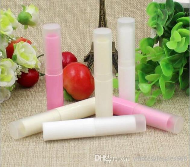 Prezzo di fabbrica 4g traslucido fai da te tubo del rossetto balsamo le labbra contenitori vuoto contenitori di tubi