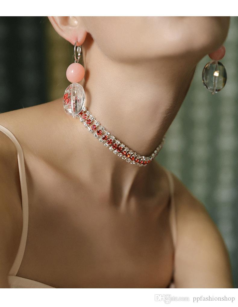 2017 novo diamante gargantilha colares, colar coréia colar clavicular colar curto seção simples pescoço pescoço cadeia de jóias