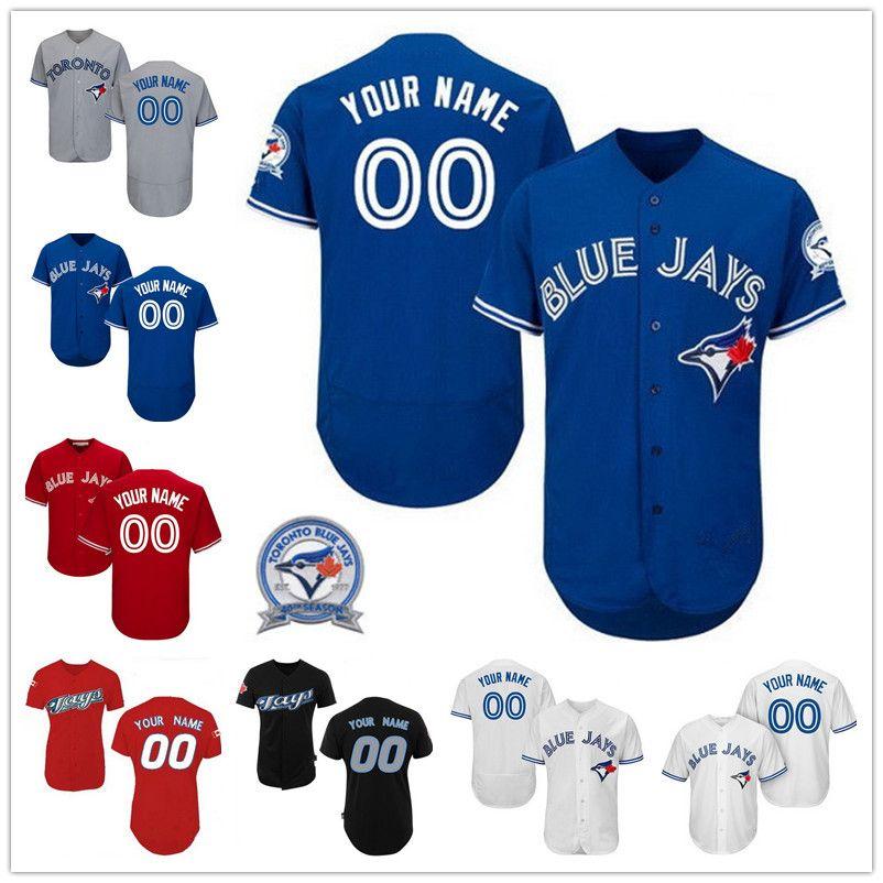bcad0d0ab ... jersey custom toronto blue jays donaldson sanchez osuna martin 14 smoak  bautista stroman Mens Majestic Toronto Blue Jays Customized ...