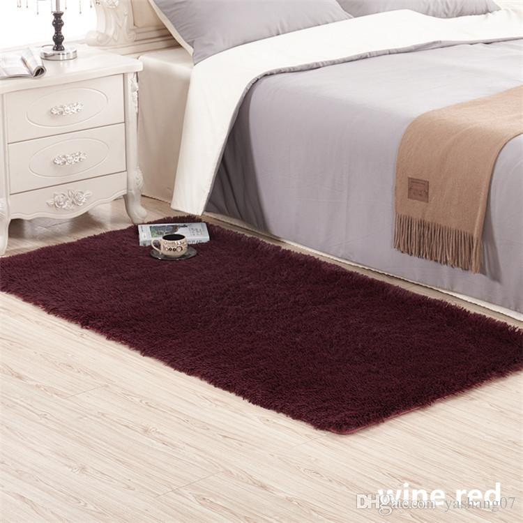 Fluffy Rugs Anti Skid Shaggy Area Rug Dining Room Home Bedroom Carpet Floor Mat Showrooms Industrial From Yashang07 568
