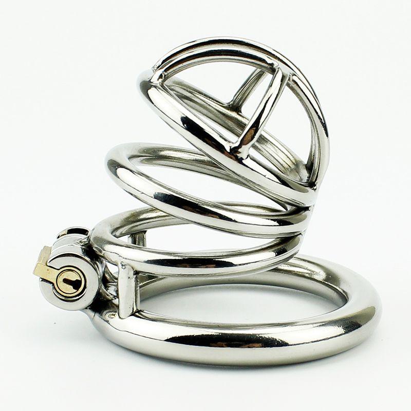2016 последний дизайн мужской целомудрие устройство из нержавеющей стали петух Кейдж игрушки металлический петух кольцо BDSM ремень пенис бондаж продукты секса
