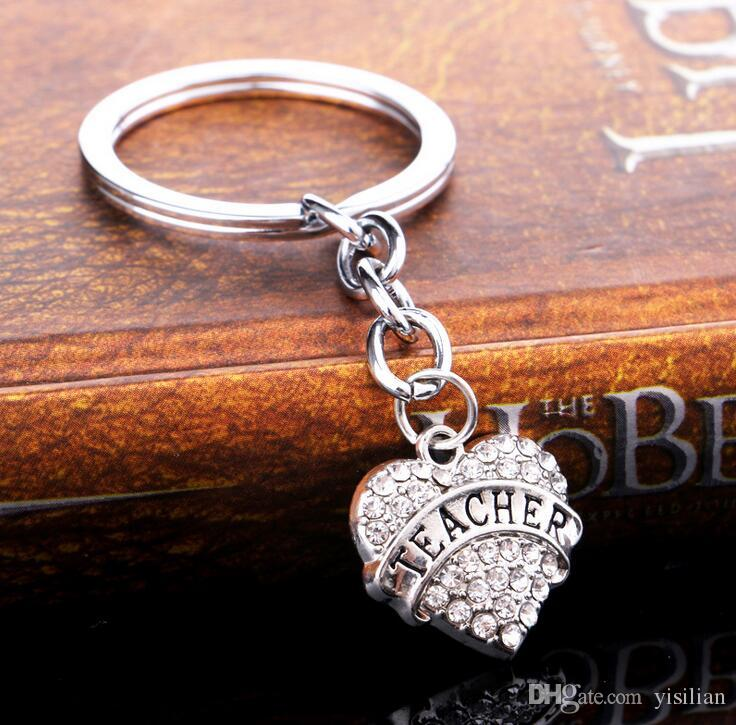 Christmas gifts peach heart flashing family members affection love engraved letter key ring key ring R002 Arts and Crafts