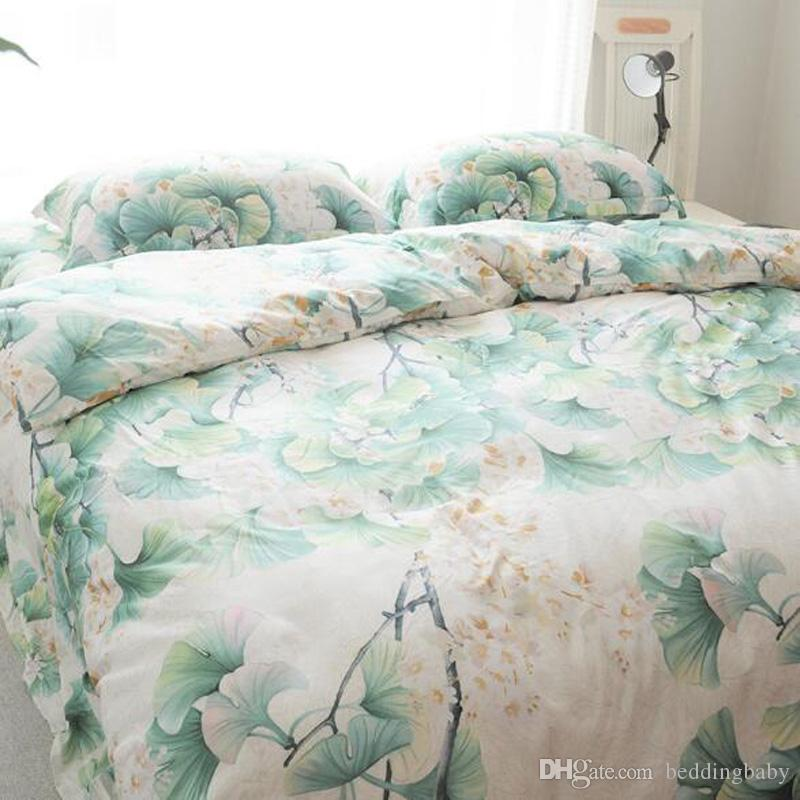 Floral Printed Bedding Set 100% Cotton Bedding Set For Bedroom Duvet Cover  Bed Sheet Country Style Bedding Sets King Size Quilt Comforter Sets  Discount ...