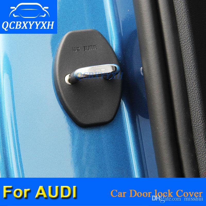 QCBXYYXH / ABS 자동차 도어 잠금 보호 커버 AUDI A6 2004-2011 A4 Q3 Q5 Q7 A1 A3 A5 A7 A8 A6 2018-2018 자동차 스타일링