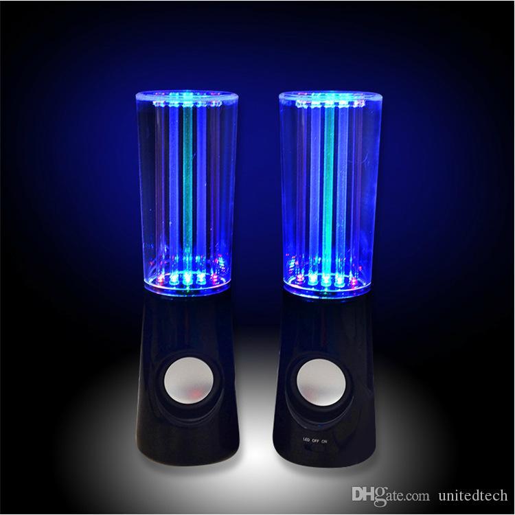 춤 물 스피커 아이폰에 대 한 활성 휴대용 USB LED 라이트 스피커 iPad PC 4 색 서브 우퍼 물 열 오디오