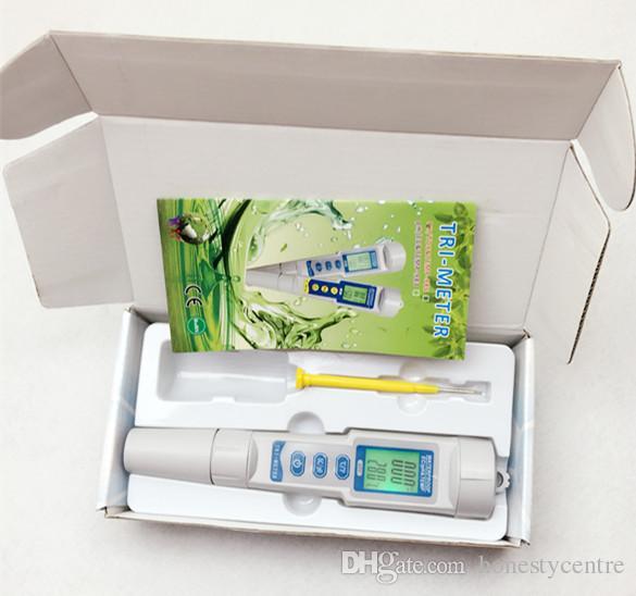 20 teile / los durch DHL Fedex 3 in 1 EC PH TEMP Digital 0,01 Meter Monitor Wasserqualität wasser Tester Automatische Kalibrierung tragbare Stift Wa