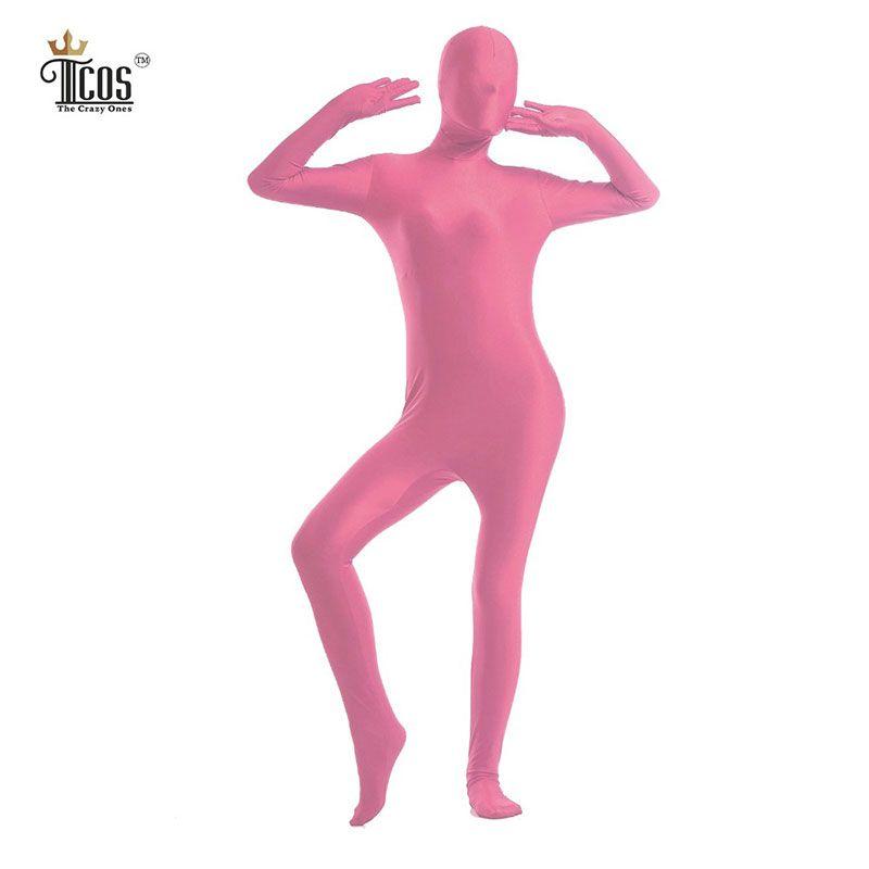 fcbaa369eb3 Wholesale-The Crazy Ones Women Pink Zentai Suit Full Body One Piece ...