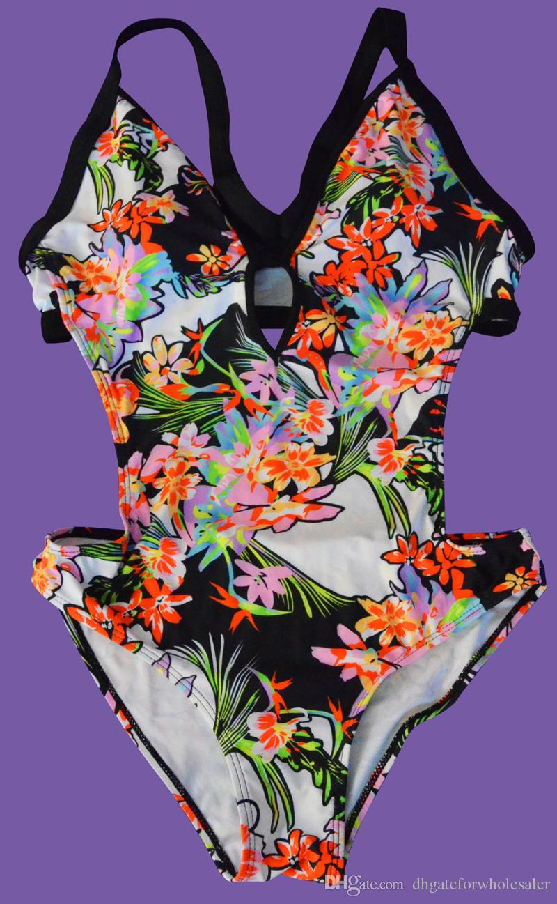 Hot Selling One Piece Swimsuit Ladies Vintage Brazilian Swimwear Bandage Micro Bikini Swimsuit Push Up Triangle Bathing Suits For Women