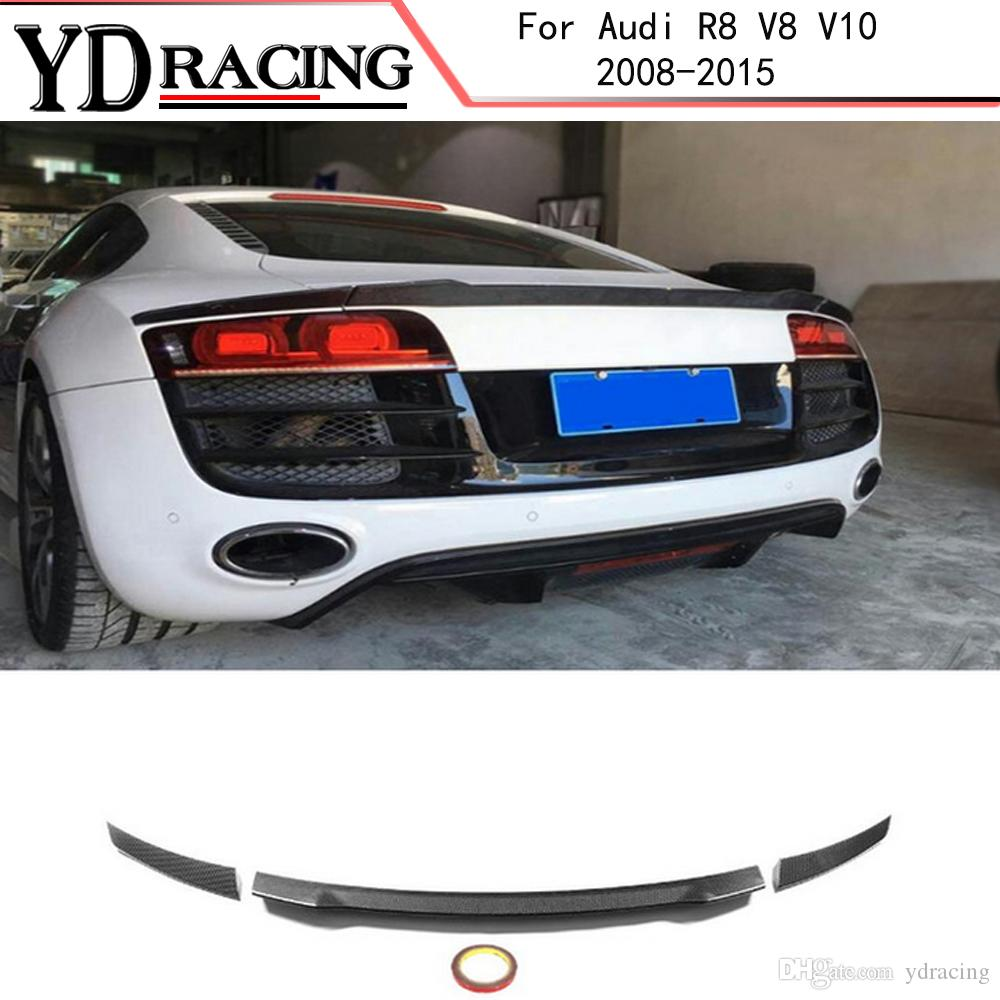 2019 For Audi R8 Spoiler V8 V10 Coupe 2008 2015 Carbon