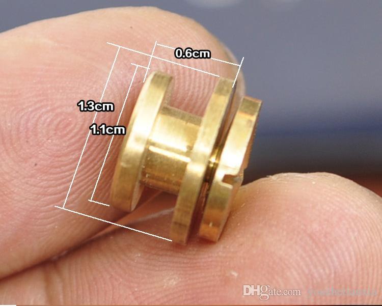13mm brieftasche tasche schraube messing gürtel niet diy handarbeit lederhandwerk schlüsseletui hardware tasche teil verschluss