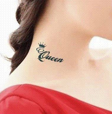 Temporary Tattoo Stickers King Queen Crown Designs Drawings
