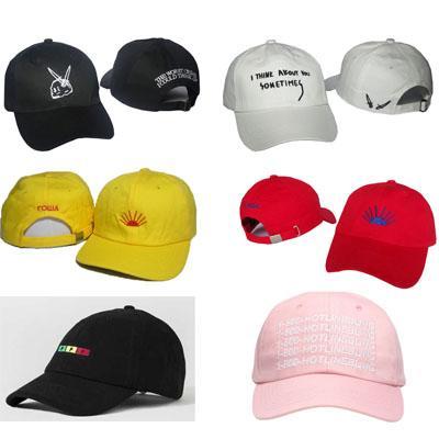 Nouveau 2016 gosha casquettes de motos chapeaux 1-800-HOTLINEBLING casquette strapback gianni mora snapback pigalle pompon douleur ppp baseball snapbacks chapeau