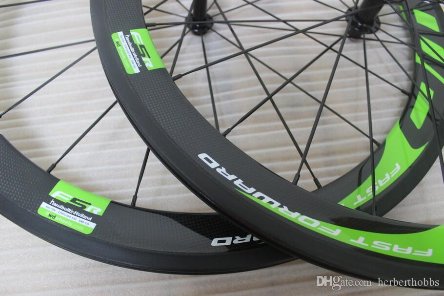 새로운 디자인 50mm 탄소 휠 FFWD 그린 로고 50mm 도로 자전거 wheelset 탄소 도매 매트 광택