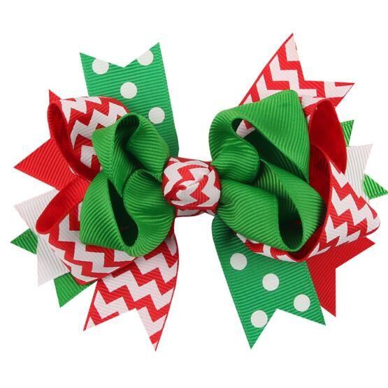 New Fashion 13 Styles Christmas Ornaments Bowknot Hairpin Headdress Hairpin Christmas Snowflake Bow Hair Clip