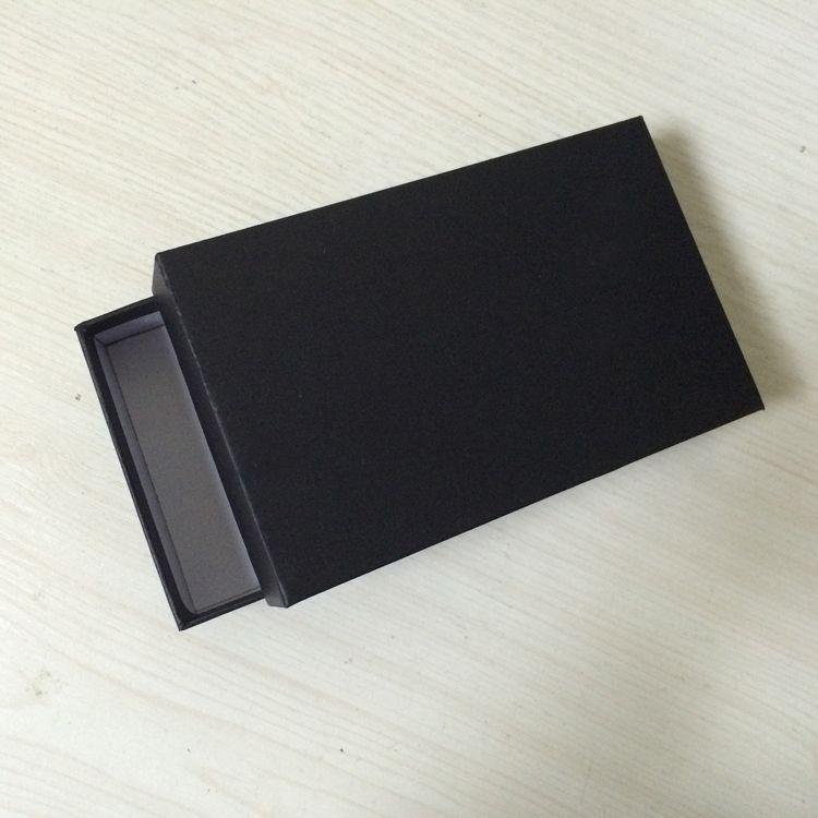 10 STÜCKE Papierverpackung in Schwarz mit Geschenkbox Geschenkverpackung in Papierform Größe 160x100x33MM 6,3 x 3,94 x 1,3 Zoll Rechteckige Geschenkbox