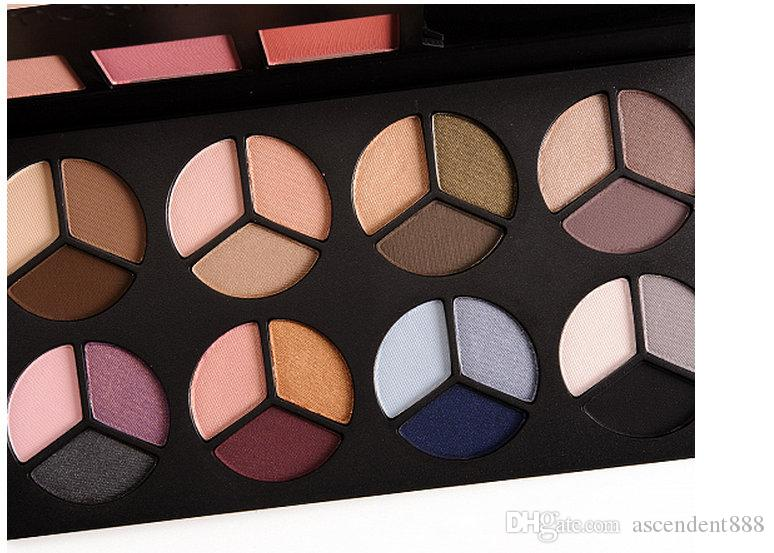 24 adet Makyaj Gözler Smash Fotoğraf Op Mega Paleti 3 Renk Allık + 24 Renk Göz Farı Maskara!