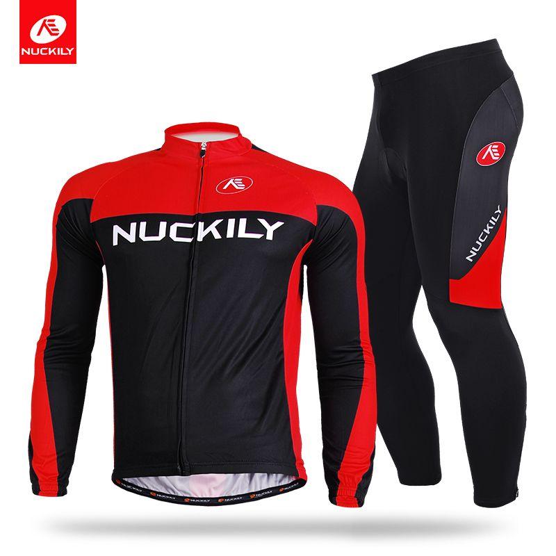 830d35642 NUCKILY Men S Spring Autumn Road Biking Foam Pad Tights + Long Sleeve  Polyester Cycling Jersey CJ133CK133 Waterproof Cycling Jacket Biker T  Shirts From ...