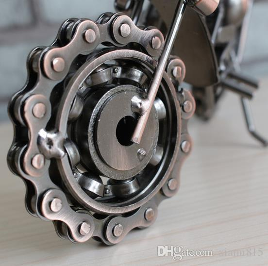 Trop cool ! Placage Moto Modèle Créatif Cadeaux Métal Fer Artisanat 21 cm * 8 cm * 10 cm En Gros Livraison Gratuite