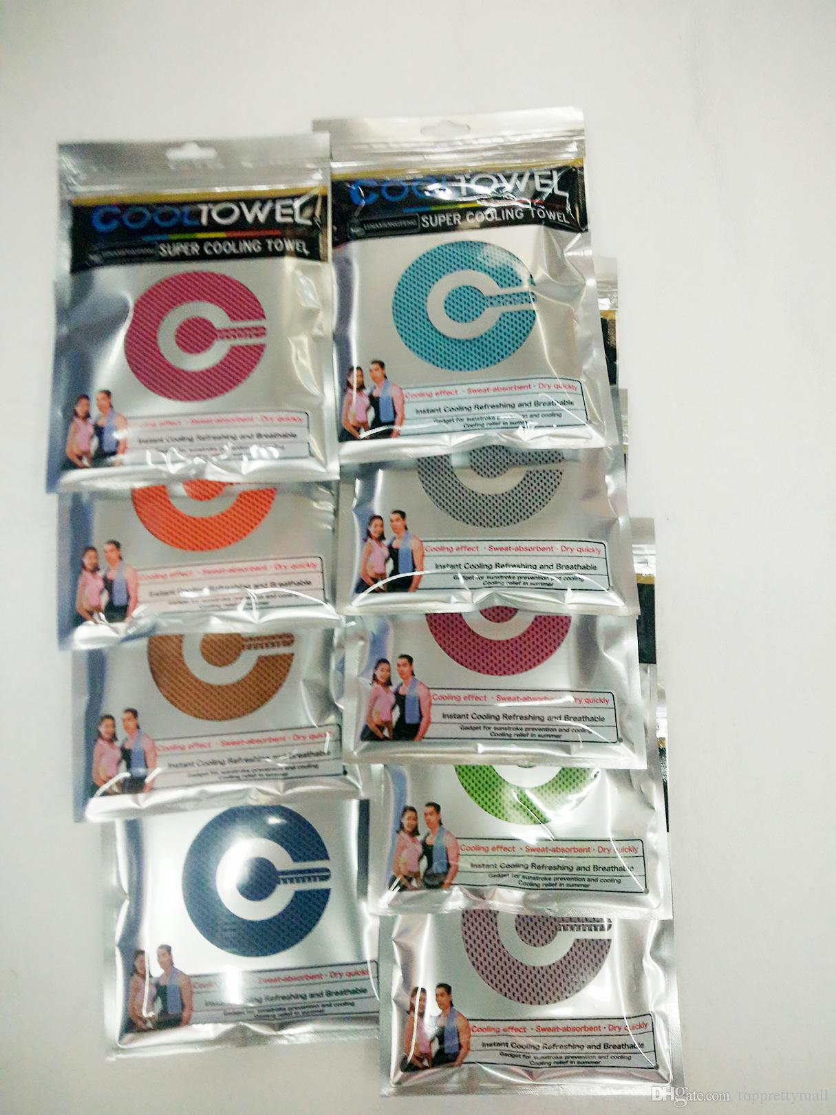 Whosale Cooling Towel Exercise Sweat Summer Sports منشفة باردة للثلج PVA انخفاض درجة حرارة الجسم