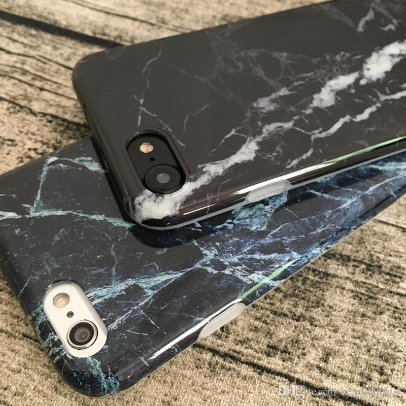 Wholesale Glossy and Matte Marble Stone Pattern IMD Phone Cover for iPhone 6 6s 6 Plus Fundas Soft Silicone Marble Painted Coque Capa