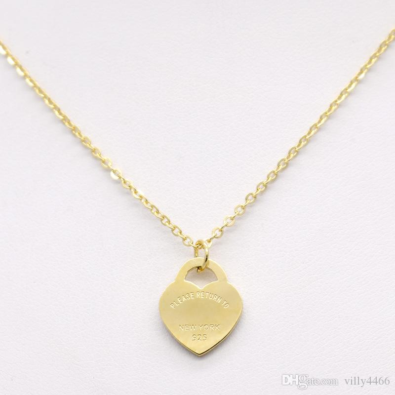 Design de Luxo Da Marca do Amor Do Coração Colar para As Mulheres de Aço Inoxidável Acessórios de Zircão Coração Amor Pulseira Pulseiras Para As Mulheres de Jóias