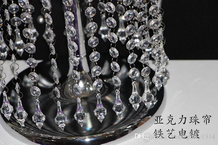 Crystal Wedding Flower Vase Holder Table Centerpieces Candle holder Decoration Chrismtas decoration Metal candle Stand
