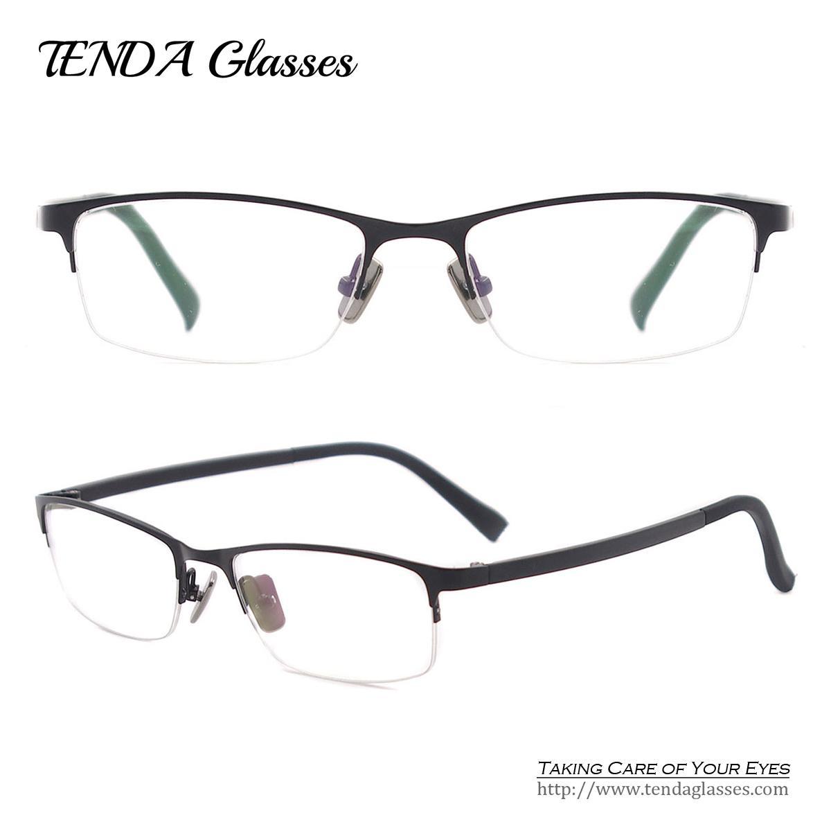 2cccef5a185 2019 Wholesale Metal Half Rim Oval Spectacles Men Eyewear Glasses For Prescription  Lenses Of Myopia   Reading From Juaner