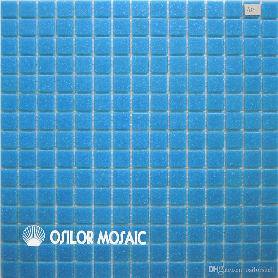 Acheter Carreau De Mosaïque En Verre Bleu Pour Salle De Bain Et Cuisine  Carrelage Mural De La Piscine 20x20mm 4 Mètres Carrés Par De $361.81 Du  Osilorshell ...