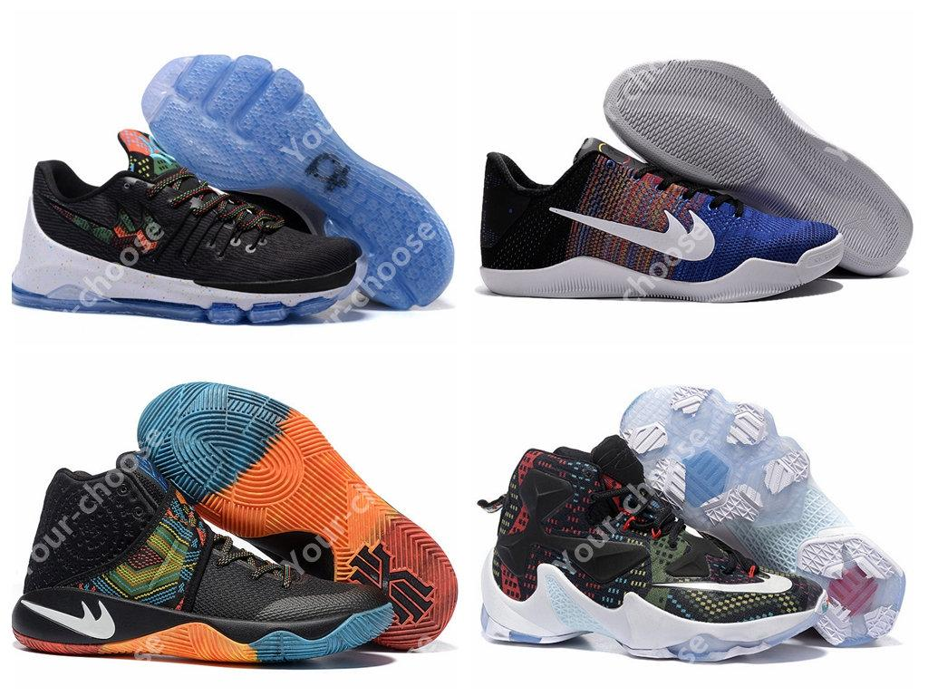 2016 New Kd 8 Lbj 13 Kb 11 Kyrie 2 Black History Month Bhm Mens Basketball Shoes  Sneakers Collection Kd8 Kevin Durant Shoes Barkley Shoes Shoes Jordans From  ...