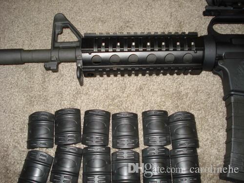 Тактический Picatinny длина карабина AR15 четырехъядерный рельсовая система крепление с 12 резиновых крышек