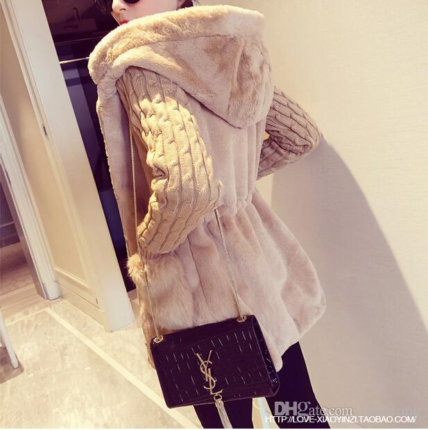 Nouveau Mode Coréenne Mode Automne Hiver Chandail Filles Plus Velvet Longue Section Vêtements Slim Coat Plus La Taille Femmes Veste