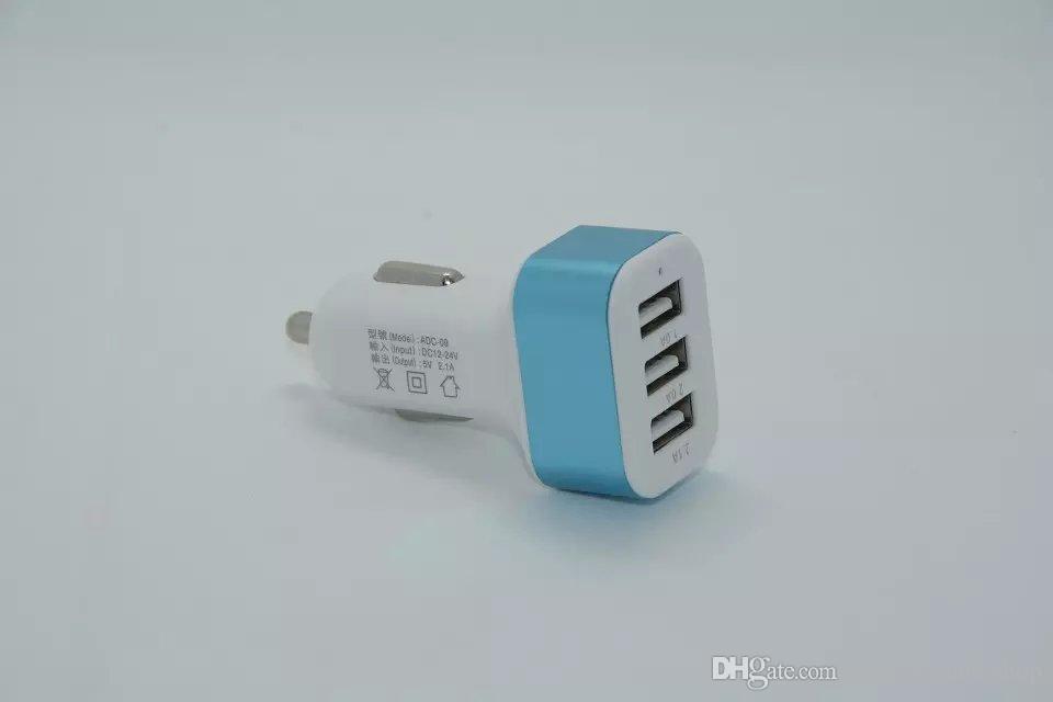 Adaptateur de charge universel en alliage de métal 5V 1A de chargeur de voiture USB pour téléphone intelligent /