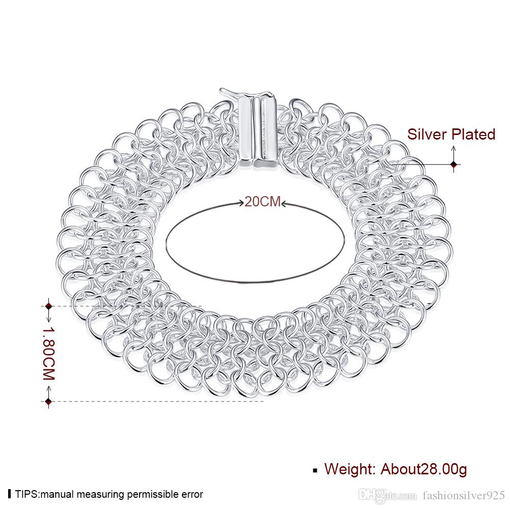 - розничная низкая цена Рождественский подарок 925 серебряный браслет, Large005