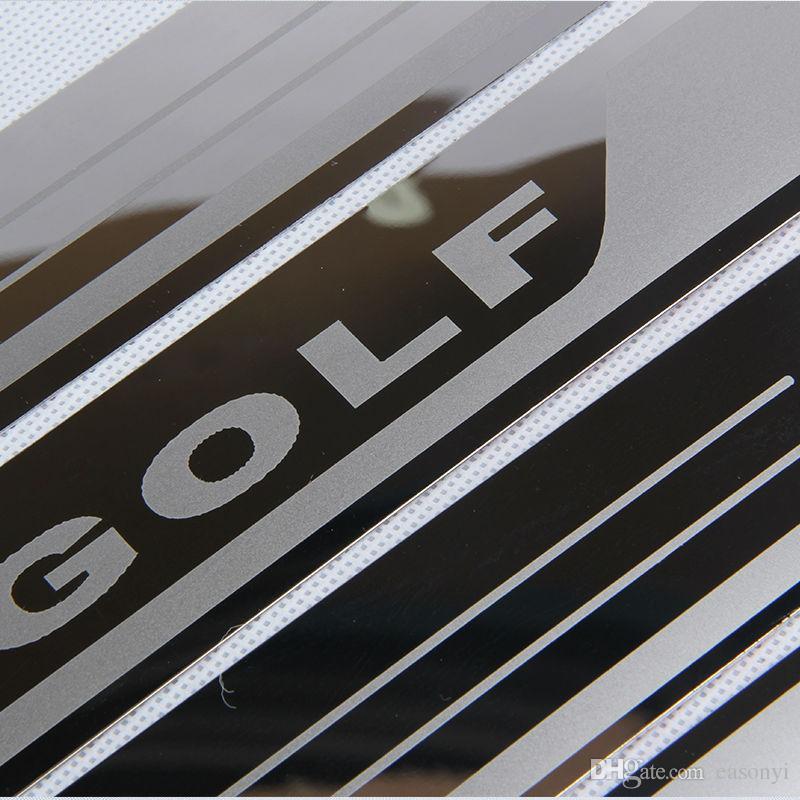 울트라 얇은 스테인레스 스틸 스커프 플레이트 도어 폭스 바겐 골프에 의해 7 MK7 골프 6 MK6에 오신 것을 환영합니다 페달 임계 자동차 액세서리 2011-2015 창턱