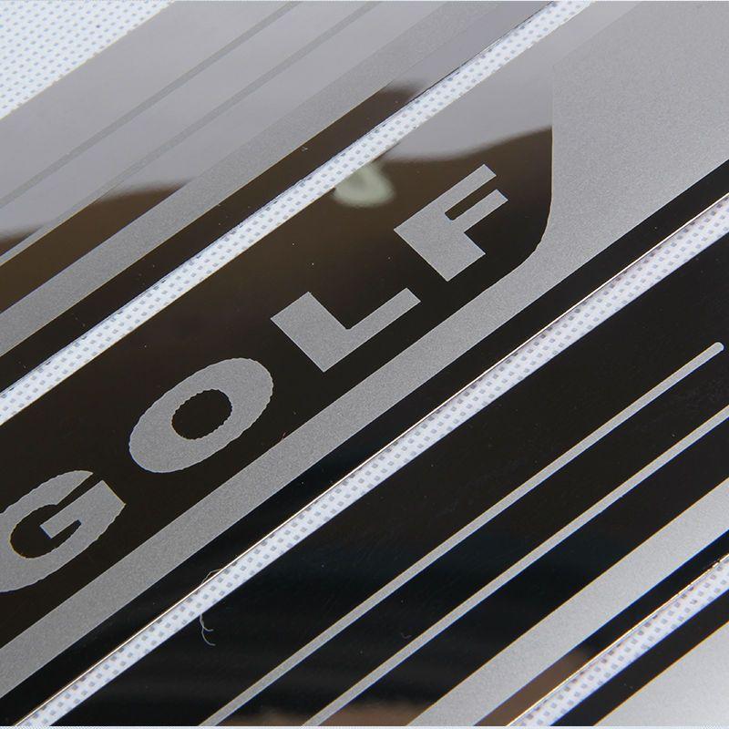 Ultra-fino Porta placa de aço inoxidável Scuff Sill para VW Golf 7 MK7 Golf 6 MK6 Bem-vindo Pedal Threshold Car Acessórios 2011-2015
