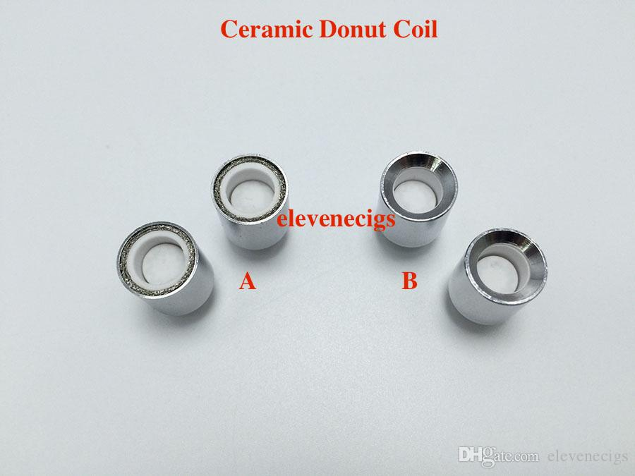Wax ceramic donut coil for Glass Globe atomizer metal coil replacement core head for Vase Cannon Bowling Vaporizer