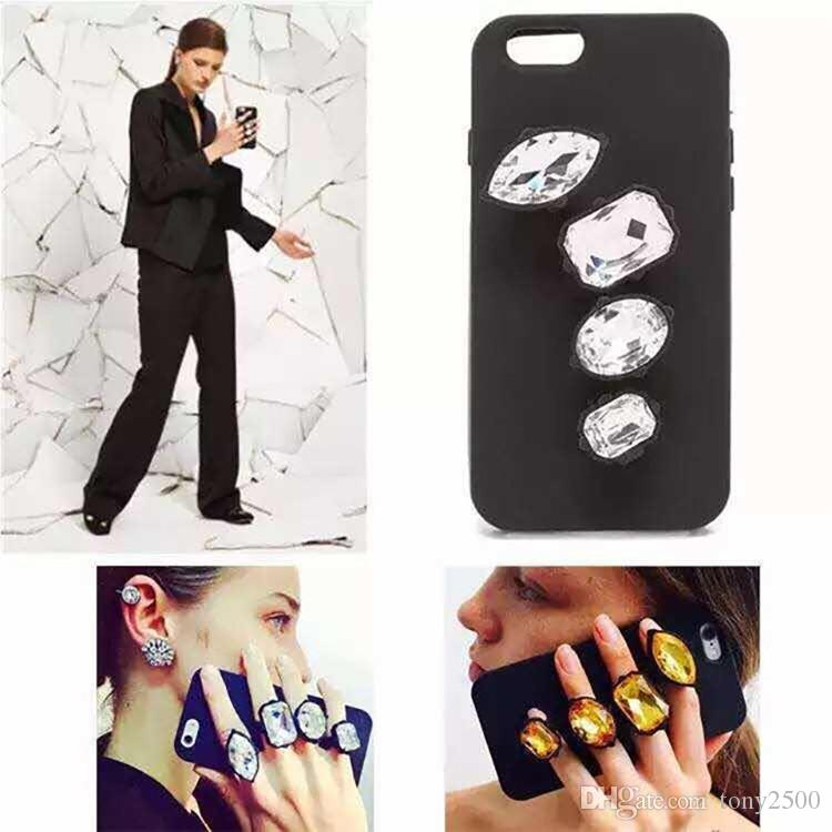 Luxury Glitter Diamond Bling Rhinestone Ring soft silicone case cover skin for iphone5 iphone6 6S iphone6 plus